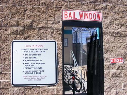 Bail Window at the City of Las Vegas Detention Centers