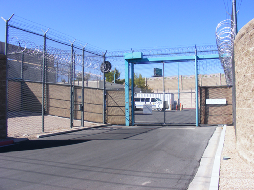 Entrance Gate C of the City of Las Vegas Detention Centers