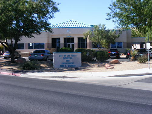 Front view of City of Las Vegas Detention Centers - 3300 E. Stewart Ave Las Vegas, NV